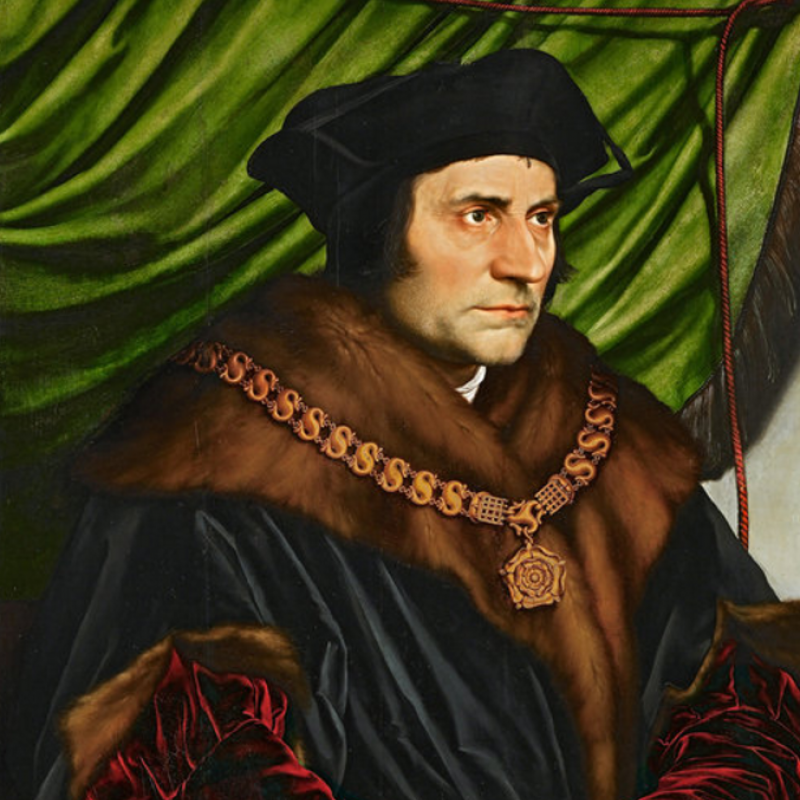 Hans Holbein the Younger's 1527 portrait of Sir Thomas More